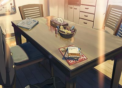 tables, Makoto Shinkai, 5 Centimeters Per Second, artwork, anime - desktop wallpaper