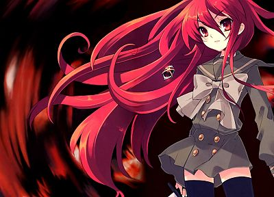 Shakugan no Shana, school uniforms, Shana, anime, anime girls - related desktop wallpaper