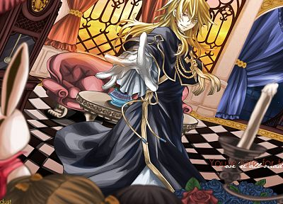 blondes, heterochromia, Pandora Hearts, anime, anime boys, Vincent Nightray - related desktop wallpaper