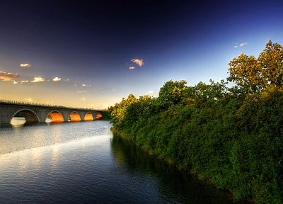 landscapes, bridges, rivers - related desktop wallpaper