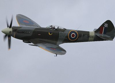aircraft, military, World War II, planes, Supermarine Spitfire - random desktop wallpaper