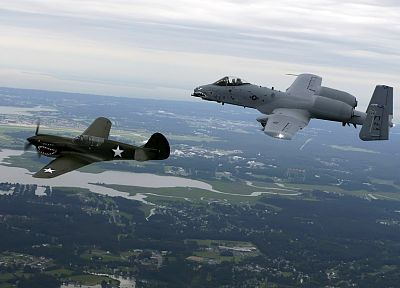 aircraft, war, military, airplanes, Warthog, A-10 Thunderbolt II - related desktop wallpaper