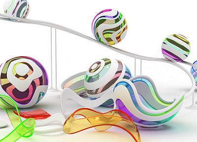 abstract, balls, digital art - random desktop wallpaper