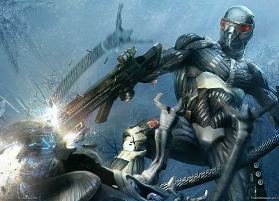 video games, Crysis, 3D - related desktop wallpaper