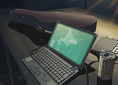 Makoto Shinkai, laptops, The Place Promised in Our Early Days, soda cans - random desktop wallpaper