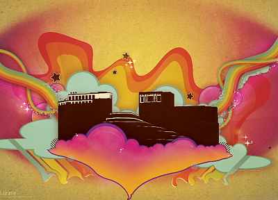 abstract, buildings, psychedelic - related desktop wallpaper