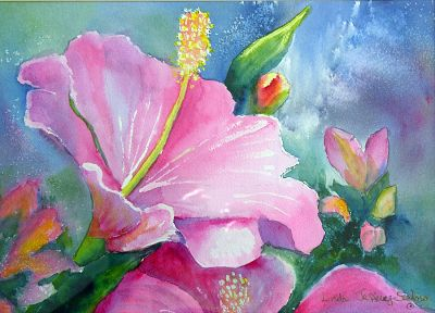 paintings, multicolor, flowers, artwork, hibiscus - related desktop wallpaper