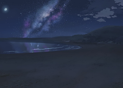 landscapes, Makoto Shinkai, scenic, 5 Centimeters Per Second, artwork, anime, beaches - related desktop wallpaper