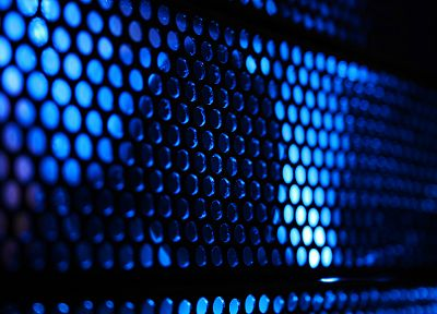 light, blue, grid, endless, holes, bokeh - random desktop wallpaper