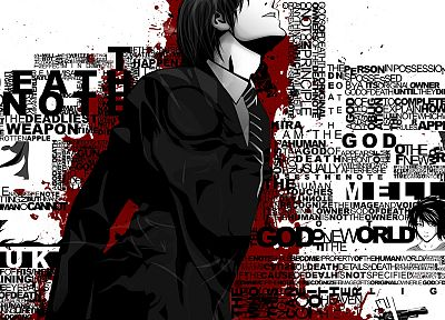 Death Note, typography, Yagami Light - random desktop wallpaper