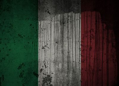 grunge, flags, Italian, Italy - random desktop wallpaper