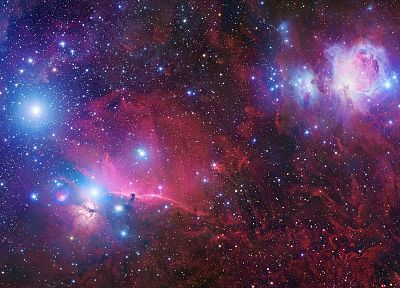 outer space, stars, Orion - random desktop wallpaper