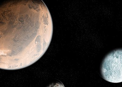 outer space, planets, Mars, Moon - related desktop wallpaper