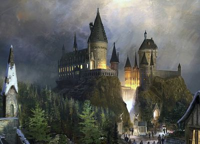 castles, concept art, Hogwarts - related desktop wallpaper