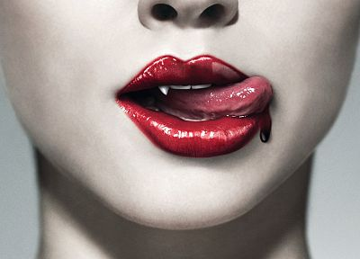 lips, True Blood, tongue, vampires - related desktop wallpaper