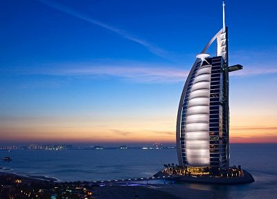 landscapes, cityscapes, Dubai, towns, skyscrapers, city skyline, Burj Al Arab - related desktop wallpaper