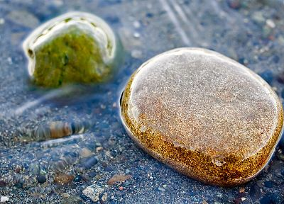 water, nature, sand, rocks - random desktop wallpaper