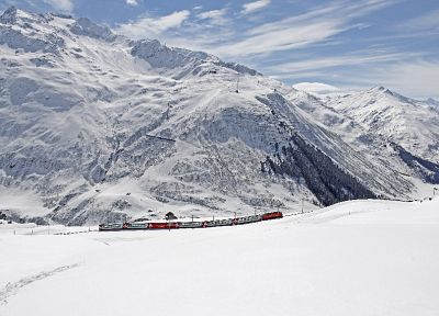 mountains, landscapes, trains, Switzerland, Swiss, Alps - related desktop wallpaper
