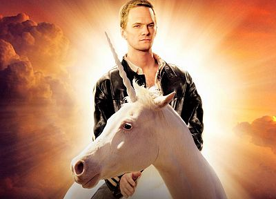 Neil Patrick Harris, men, unicorns, celebrity, Barney Stinson, actors - related desktop wallpaper