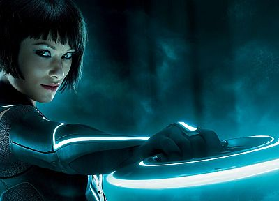 movies, Olivia Wilde, Tron, Tron Legacy, Quorra - random desktop wallpaper