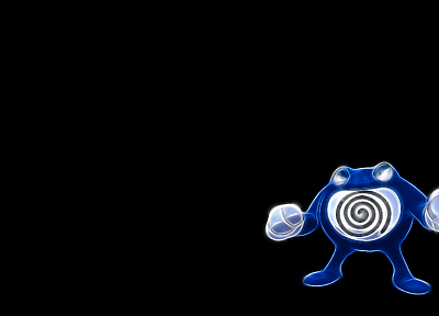 Pokemon, simple background, Poliwrath, black background - related desktop wallpaper