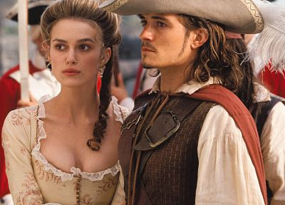 movies, Keira Knightley, Pirates of the Caribbean, Orlando Bloom, Elizabeth Swann - related desktop wallpaper