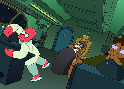 Futurama, Dr Zoidberg, screenshots, Hermes, Professor Farnsworth - related desktop wallpaper