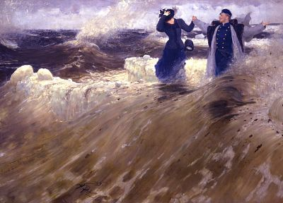 paintings, ocean, waves, artwork, Ilya Repin, Russian - random desktop wallpaper