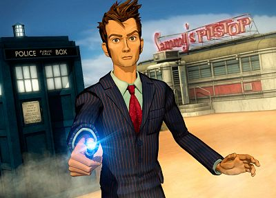 TARDIS, Doctor Who, Tenth Doctor - related desktop wallpaper