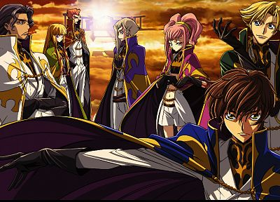 Code Geass, Kururugi Suzaku, Alstreim Anya, anime, Gino Weinberg - related desktop wallpaper