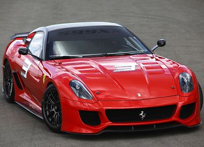 cars, Ferrari, vehicles, red cars, Ferrari 599XX, front angle view - related desktop wallpaper