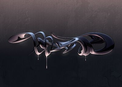 abstract, dark, CGI, digital art, reflections - related desktop wallpaper