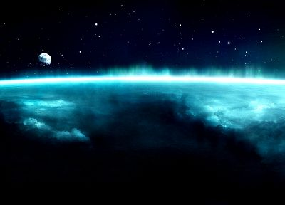 blue, outer space, atmosphere - related desktop wallpaper