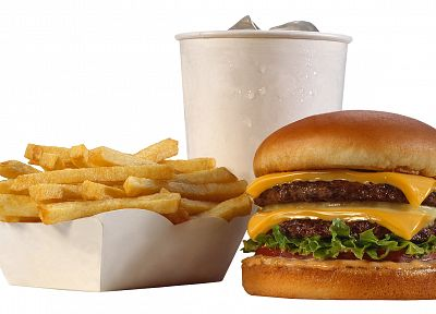food, cheese, french fries, drinks, hamburgers - random desktop wallpaper