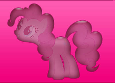 My Little Pony, Pinkie Pie, glossy texture - desktop wallpaper