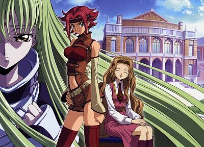Code Geass, Stadtfeld Kallen, Lamperouge Nunnally, C.C. - related desktop wallpaper