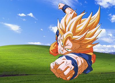 Windows XP, Son Goku, Microsoft Windows, anime, Dragon Ball Z - related desktop wallpaper