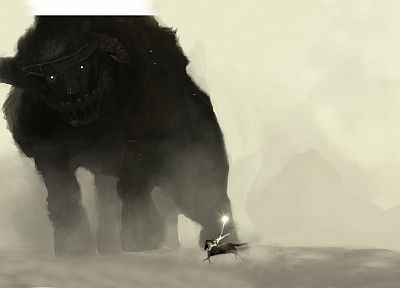 paintings, fantasy art, Shadow of the Colossus, artwork - random desktop wallpaper