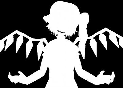 Touhou, Flandre Scarlet, Bad Apple!, simple background - desktop wallpaper