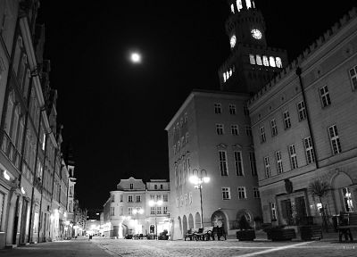black, cityscapes, urban, Poland, monochrome, Opole - related desktop wallpaper