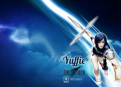 brunettes, women, Final Fantasy VII, cosplay, costume, design, Final Fantasy VII Advent Children, fantasy art, Yuffie Kisaragi, Girls Of Gaming, anime, manga, anime girls, Anime Expo - related desktop wallpaper