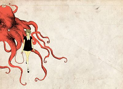 octopuses, anime - random desktop wallpaper