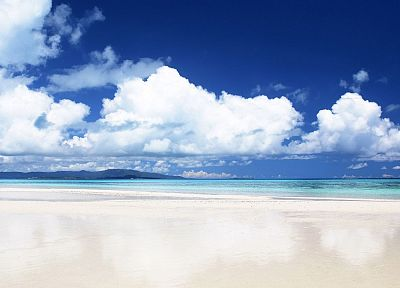 ocean, clouds, landscapes, skyscapes, beaches - desktop wallpaper