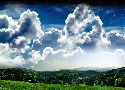 clouds, landscapes, nature, fantasy art - related desktop wallpaper
