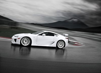 Japan, cars, sports, Lexus LFA, white cars - random desktop wallpaper