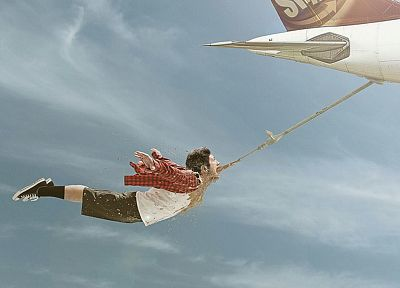 flying, advertisement, artwork, Viral - related desktop wallpaper