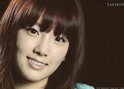 women, Girls Generation SNSD, celebrity, Asians, Korean, Kim Taeyeon, K-Pop, faces, bangs - desktop wallpaper