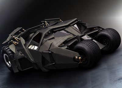 Batman, black, movies, cars, vehicles, Batmobile, The Dark Knight, tumbler - desktop wallpaper