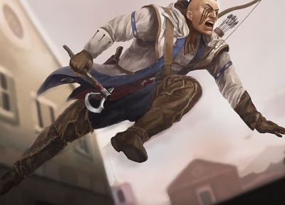 video games, fantasy art, artwork, Assassins Creed 3, games, Connor Kenway - desktop wallpaper