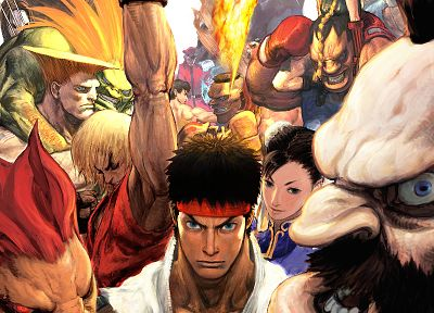 video games, Street Fighter, Cammy, Ryu, Sagat, Akuma, Chun-Li, Ken, Zangief, Blanka, Vega, Guile - random desktop wallpaper